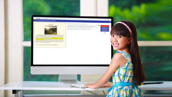 An Afficient student receiving online support from an Afficient Instructor